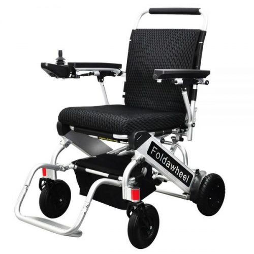 Foldawheel folding powerchair
