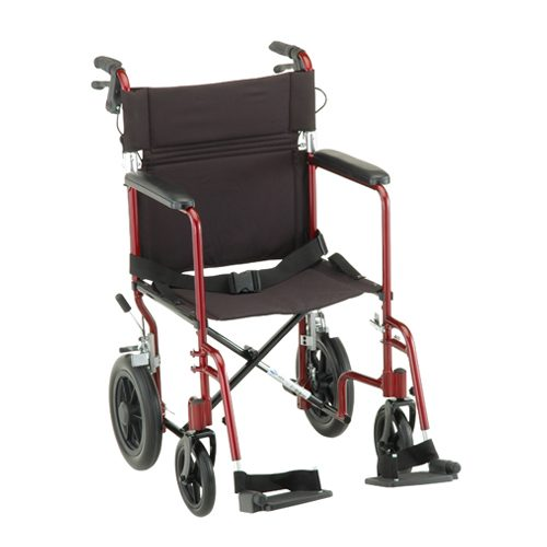 "Nova 20"" Transport Chair with 12″ Rear Wheels"